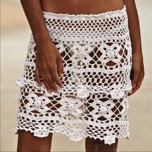 Handmade crochet beach skirt
